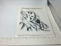 "Original Poster ""Cartoon History of Watergate"" - LIKE SISYPHUS PUSHING UP HILL"