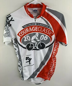 Voler Mens Sz Sm The Children's Hospital Courage Cycling Jersey USA Made 2006