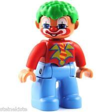 LEGO® Duplo Zirkus  Figur - Clown - grüne Haare - NEU