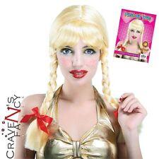 Britney Baby Blonde Wig School Girl Swiss Heidi Plaits Hit Me Fancy Dress Spears