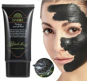 Black Mud Face Mask Blackhead Remover Deep Cleansing Peel Acne Treatment
