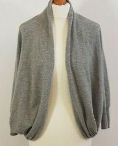 John Lewis:Collection Ladies Grey Cashmere Cardigan Medium