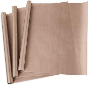 "3 Pack Teflon Sheet for Heat Press Transfer Sheet Non Stick 16 x 20"""