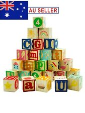 Montessori Early Educational Wooden Alphabet Numbers Blocks for Toddler/Kids
