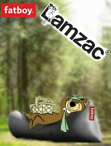 """LAMZAC """"Original"""" Lounge Chair BLACK. Holds up to 440 lbs. Inflates in Seconds"""