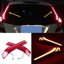 For Honda Jazz FIT 2015-2016 2*Light guide Rear Tail lights brake super bright