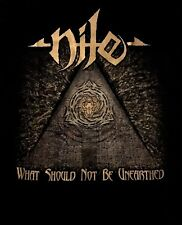 NILE cd cvr WHAT SHOULD NOT BE UNEARTHED Official 2017 TOUR SHIRT MED new