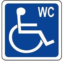 ADESIVO segnaletica TOILETTE diversamente abili. STICKER Easly accessed toilette