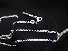 "Necklace 925 Sterling Silver "" FLAT CURB "" Chain 60cm x 2mm Beaut Gift Idea NEW"