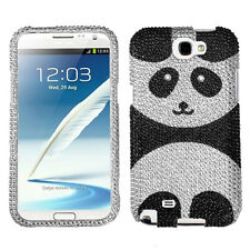 FOR Samsung Galaxy Note II FIT ALL CLEAR PANDA BLING CASE COVER + SCREEN FILM