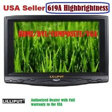 "Lilliput 619A 7"" HB HD on Camera Field TFT LCD Monitor VGA/Audio/HDMI/DVI Input"