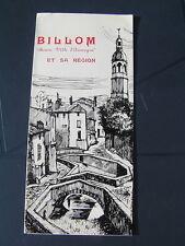 dépliant BILLOM et sa région