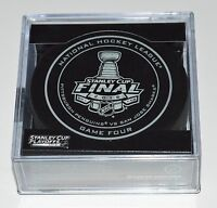 New 2016 NHL Stanley Cup Penguins vs. Sharks Sherwood Official Game Puck #4 Four