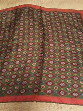 NWT Gucci Silk Pocket Square Pier 45 Green Print