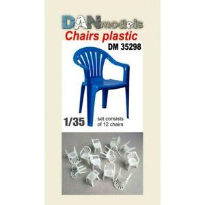 DAN Models 35298 Material For Dioramas: Plastic Chairs 12 Pcs Scale 1/35