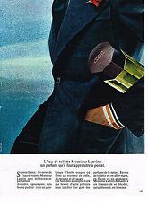 PUBLICITE ADVERTISING 104  1974  MONSIEUR LANVIN parfum eau de toilette homme