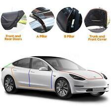 6Pcs Door Seal Soundproof Rubber Draft Seal Strip Wind Noise For Tesla Model S/3