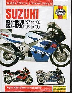 Suzuki GSX-R600 1997-2000, GSX-R750 1996-1999 Haynes Service & Repair Manual