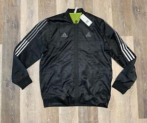 Adidas TAN Woven Soccer Jacket Mens Size Large Black GE5174 NWT $90