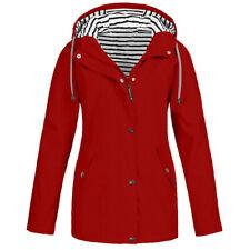 Women's Rain Jacket Outdoor Plus Size Waterproof Hoodie Raincoat Windproof Coats