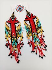 Native American Style Seed Bead Earrings Free Shipping Handmade