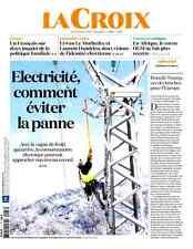La  CROIX 17.01.2017 n°40699*ELECTRICITÉ comment éviter la PANNE*1/2 fr.INQUIET