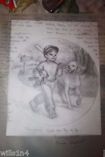 Original Illustrator Art Danbury Mint Plate Thursday's Child Elaine Gignilliat
