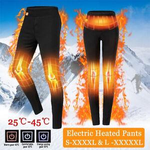 Men's Women Electric USB Heated Pants Winter Warmer Heating Elastic Trousers LOT