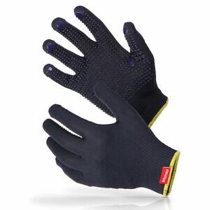Flexitog blue polka dot general purpose high grip picking gloves protection work