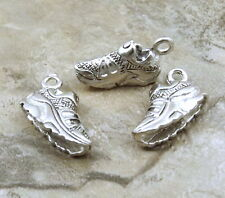 Set of 3 Pewter Charms - SNEAKER  or Running Shoe - 5450
