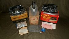 3 VTG ELECTRIC CLOTHING HAND IRONS ORIG BOXES SUNBEAM GENERAL ELECTRIC MERMAID