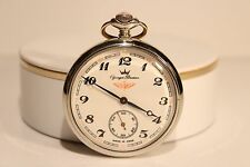 "Vintage Rare Ussr Railroad Men'S Pocket Watch""Yonger Bresson""(Molnija)Loc omotive"