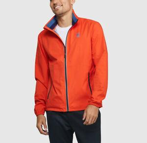 Psycho Bunny Men's Pimento Orange Thornley  Full Zip Golf Jacket $220