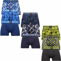 Mens Crosshatch 3 Pack Check Print Boxers Shorts Underwear Xmas Gift Trunks