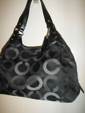 Authentic Coach 1073 15573 Edie Black, Gray and Silver Satchel/Shoulder Bag