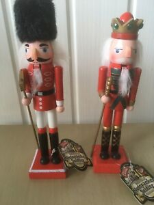 2 Wooden Nutcracker Soldiers