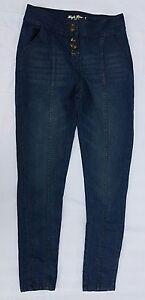 Blue SKINNY LEG Ladies HIGH WAIST 5 Button Denim Jeans SIZE 12 - Rivers