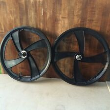 "New Old Stock SateLite BMX Mags-Wheel set-Shimano coaster Brake-20"" Black"