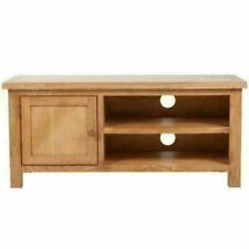 Solid Oak TV Cabinet Wood Entertainment Stand Media Audio Television Storage