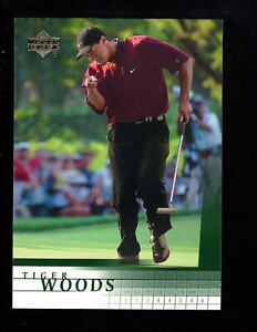 2001 Upper Deck Golf #1 Tiger Woods RC Rookie NM-MT 2149