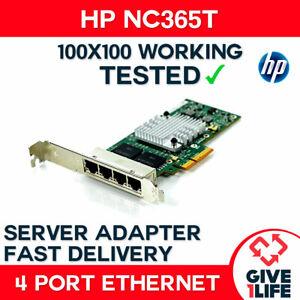 HP NC365T 4-PORT Gigabit ETHERNET SERVER ADAPTER - PCIe Tarjeta Red Servidor
