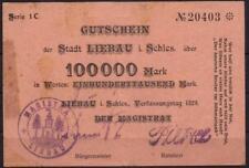 [8672] - GROSSNOTGELD LIEBAU (heute: Lubawka), 100.000 M 1923, Stadt, Keller 325