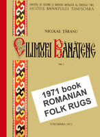 1971 Romanian Folk Rugs Kilim Large 45 color pictures Rare Out of print XL Book