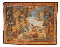Vintage French Wall Hanging Antique Tapestry Home decor Large Size 80X60 inches