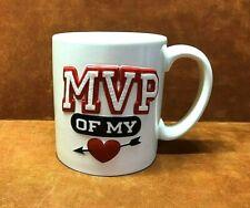 HALLMARK ~ MVP Of My Heart Coffee Cocoa Mug 14 Oz. ~ Like New ~ FREE SHIPPING
