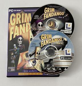 LucasArts Grim Fandango PC CD Rom Video Game Collectable Retro 2 Discs