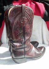 Men's LUCCHESE Dark Brown Roper Boots L6617 8½D 8½ D