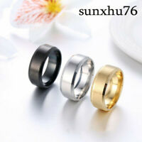Simple Titanium Ring for Men and Women Wedding Stainless Steel 8MM Ring Band