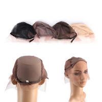 Lace Front Wig Cap for Wig Making Weave Cap Elastic Hair Net Black Brown BeigeBE