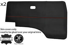 RED STITCH 2X DOOR CARD VINYL COVERS FITS VW T25 T3 WESTFALIA CAMPER